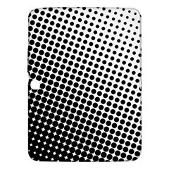 Background Wallpaper Texture Lines Dot Dots Black White Samsung Galaxy Tab 3 (10 1 ) P5200 Hardshell Case