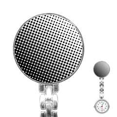 Background Wallpaper Texture Lines Dot Dots Black White Stainless Steel Nurses Watch