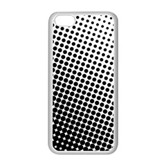 Background Wallpaper Texture Lines Dot Dots Black White Apple Iphone 5c Seamless Case (white)
