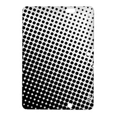 Background Wallpaper Texture Lines Dot Dots Black White Kindle Fire Hdx 8 9  Hardshell Case