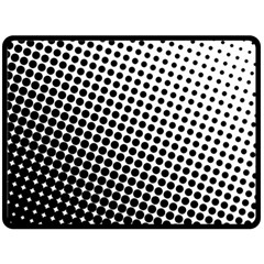 Background Wallpaper Texture Lines Dot Dots Black White Double Sided Fleece Blanket (large)
