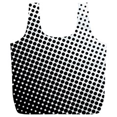 Background Wallpaper Texture Lines Dot Dots Black White Full Print Recycle Bags (l)