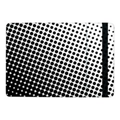 Background Wallpaper Texture Lines Dot Dots Black White Samsung Galaxy Tab Pro 10 1  Flip Case