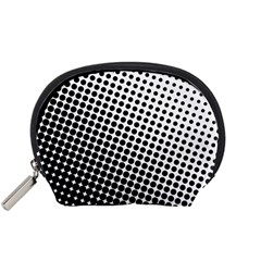 Background Wallpaper Texture Lines Dot Dots Black White Accessory Pouches (small)