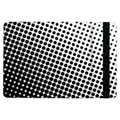 Background Wallpaper Texture Lines Dot Dots Black White Ipad Air Flip