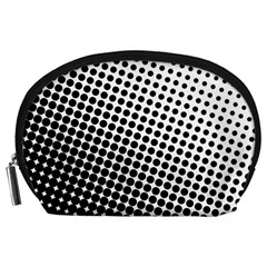 Background Wallpaper Texture Lines Dot Dots Black White Accessory Pouches (large)