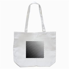 Background Wallpaper Texture Lines Dot Dots Black White Tote Bag (white)