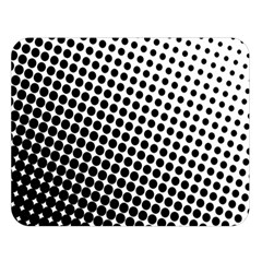 Background Wallpaper Texture Lines Dot Dots Black White Double Sided Flano Blanket (large)