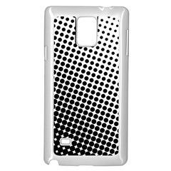 Background Wallpaper Texture Lines Dot Dots Black White Samsung Galaxy Note 4 Case (White)