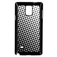 Background Wallpaper Texture Lines Dot Dots Black White Samsung Galaxy Note 4 Case (black)
