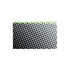 Background Wallpaper Texture Lines Dot Dots Black White Cosmetic Bag (xs)
