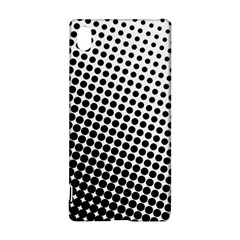 Background Wallpaper Texture Lines Dot Dots Black White Sony Xperia Z3+