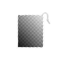 Background Wallpaper Texture Lines Dot Dots Black White Drawstring Pouches (xs)