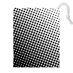 Background Wallpaper Texture Lines Dot Dots Black White Drawstring Pouches (xxl)