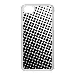 Background Wallpaper Texture Lines Dot Dots Black White Apple Iphone 7 Seamless Case (white)