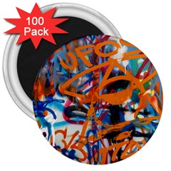 Background Graffiti Grunge 3  Magnets (100 pack)