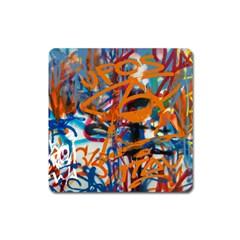 Background Graffiti Grunge Square Magnet