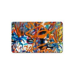 Background Graffiti Grunge Magnet (Name Card)