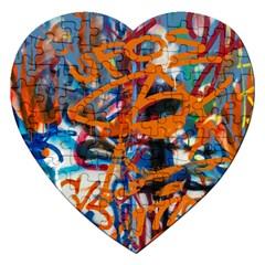 Background Graffiti Grunge Jigsaw Puzzle (heart)