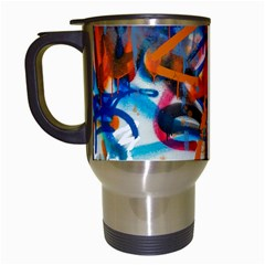 Background Graffiti Grunge Travel Mugs (white)