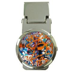 Background Graffiti Grunge Money Clip Watches