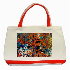 Background Graffiti Grunge Classic Tote Bag (red)