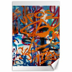 Background Graffiti Grunge Canvas 12  X 18