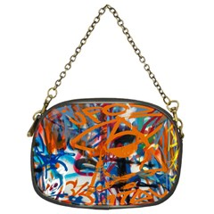 Background Graffiti Grunge Chain Purses (two Sides)