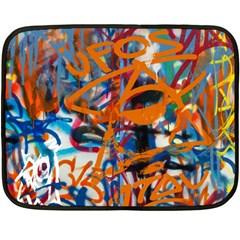 Background Graffiti Grunge Fleece Blanket (mini)