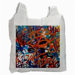 Background Graffiti Grunge Recycle Bag (two Side)
