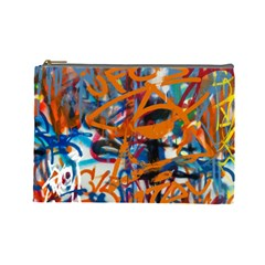 Background Graffiti Grunge Cosmetic Bag (large)