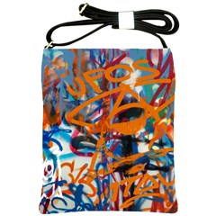 Background Graffiti Grunge Shoulder Sling Bags