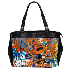 Background Graffiti Grunge Office Handbags (2 Sides)