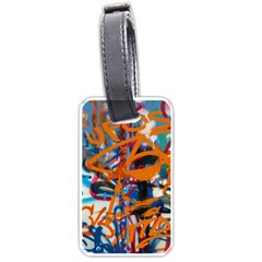 Background Graffiti Grunge Luggage Tags (two Sides)