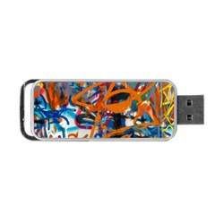 Background Graffiti Grunge Portable Usb Flash (two Sides)