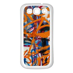 Background Graffiti Grunge Samsung Galaxy S3 Back Case (white)