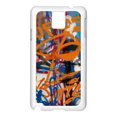 Background Graffiti Grunge Samsung Galaxy Note 3 N9005 Case (white)
