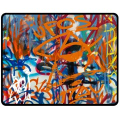 Background Graffiti Grunge Double Sided Fleece Blanket (medium)