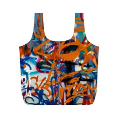 Background Graffiti Grunge Full Print Recycle Bags (m)