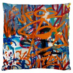 Background Graffiti Grunge Large Flano Cushion Case (two Sides)
