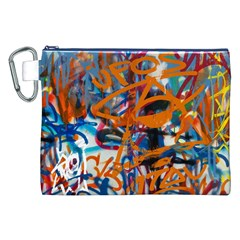 Background Graffiti Grunge Canvas Cosmetic Bag (xxl)