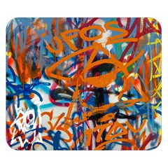 Background Graffiti Grunge Double Sided Flano Blanket (small)
