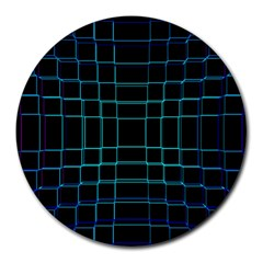 Background Wallpaper Texture Lines Round Mousepads