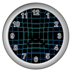 Background Wallpaper Texture Lines Wall Clocks (silver)