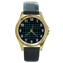 Background Wallpaper Texture Lines Round Gold Metal Watch
