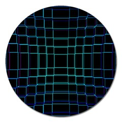 Background Wallpaper Texture Lines Magnet 5  (Round)