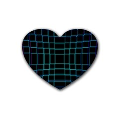 Background Wallpaper Texture Lines Rubber Coaster (heart)