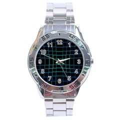 Background Wallpaper Texture Lines Stainless Steel Analogue Watch