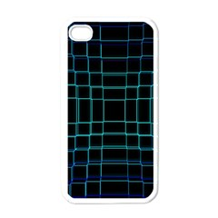 Background Wallpaper Texture Lines Apple Iphone 4 Case (white)