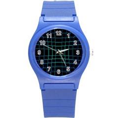 Background Wallpaper Texture Lines Round Plastic Sport Watch (s)